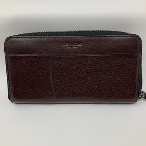 Coach Donating Tomorrow Long Brown Leather Wallet